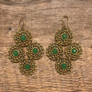 Stella & Dot Green Earrings